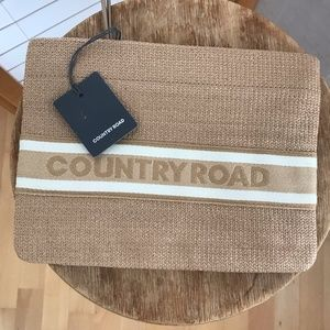 """From Australia """"Country Road"""" zippered pouch woven"""